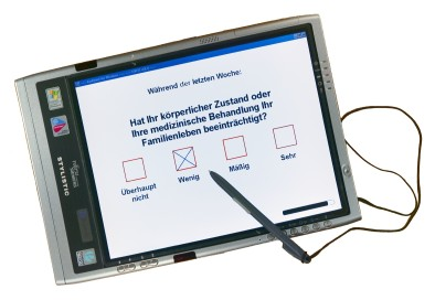 Foto: FSC ST5020 Pen-Computer with AnyQuest for Windows and EORTC QLQ-C30